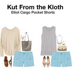 Hannah:  Cargo shorts in a fun color! Yay! Kut From the Kloth Elliot Cargo Pocket Shorts from Stitch Fix