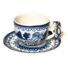 Delft Blond Blond Amsterdam cup and saucer made of pottery