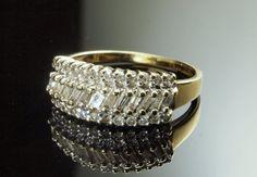 Baguette Diamond Eternity Ring  Half Eternity by BelmontandBellamy
