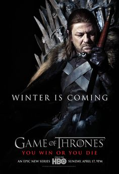 Game of Thrones Season 1 Promotional Posters | Winter is Coming