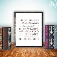 this seems like me... Literary art quote print wall art printable by PrintableWisdom, $5.00