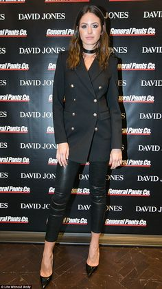 That's a different look! Jesinta Campbell tried on a different look at the David Jones collaboration with General Pants launch at their Sydney city store on Thursday