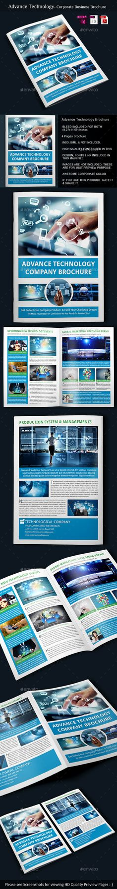 Science and Chemistry Brochure Template Design by StockLayouts - technology brochure template