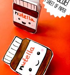 DIY super cute (kawaii) mini nutella notebook // Nutella alakú jegyzettömbök egyszerűen - vicces jegyzetfüzet // Mindy - craft tutorial collection // #crafts #DIY #craftTutorial #tutorial #KidsCrafts #CraftsForKids #KreatívÖtletekGyerekeknek