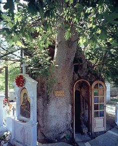Natural Shrine in Greece Mykonos, Santorini, Saint Chapelle, To Infinity And Beyond, Place Of Worship, Kirchen, Greece Travel, Greek Islands, Statues