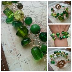 SALE. Kelly Green and Hummingbird. Wire by SomethingSeaBlue