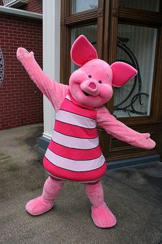 9. My whole family loves disney and we all have our own little character. My mom's is piglet from whinny the phoo.
