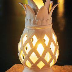 Ceramic Pineapple Lantern