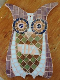 Mosaic Owl Sign
