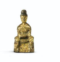 五胡十六國時代 銅鎏金菩薩坐像 | Lot | Sotheby's