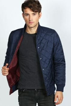 3585dd6dfab Quilted Baseball Jacket - navy.