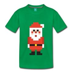 Pixel Santa Claus Kids' Premium T-Shirt ✓ Unlimited options to combine colours, sizes & styles ✓ Discover T-Shirts by international designers now! 8 Bit, Christmas T Shirt Design, Happy Birthday Messages, Got Quotes, Christmas Gift For You, Kids Shirts, Platforms, Shirt Designs, Happy Birthdays