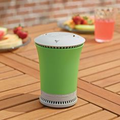 I just need one I can fasten to my back to take climbing - The Portable Tabletop Mosquito Repeller - Hammacher Schlemmer