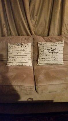 Hand made pillows