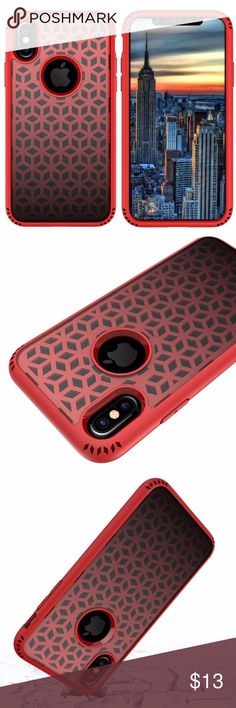 Red Rubber Protective iPhone X Case Perfect design for iPhone X, DO NOT fit any other device. Flexible TPU case with interior triangle-web pattern & Raised lip for protecting screen and cameras. Corners with triangle cushion for shock absorption, mostly, phones drop down, the corners touch the floor first, our design of the corners can absorb most of the shock from small drops. Tactile buttons for solid feedback and an easy press. Smart design, total access to every functionality and all…