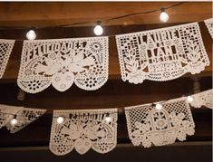 Laurie & Ian custom papel picado wedding banner maybe for a party or shower?