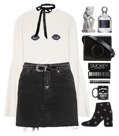 """""""Untitled #1518"""" by timeak ❤ liked on Polyvore featuring The Row, Topshop, Senso, B-Low the Belt, Lemaire, Jac Vanek, NARS Cosmetics and NOVICA"""