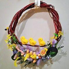 #wreath #spring #Easter #flowers #eggs #decorations #DIY #handmade #wiosna #wianek #ozdoby #dekoracje #wielkanoc