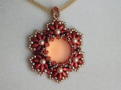 Beaded Pendant Pattern Beading Tutorial Jewelry 18mm