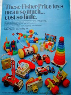 Retro Fisher Price ad #2 vintage-toys-and-games...I had all of these!