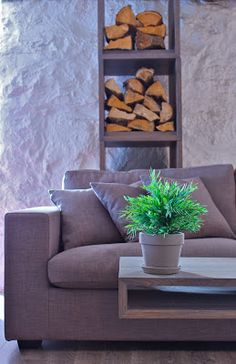 Livingroom: STREET Sofa/wood stack