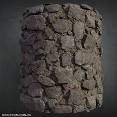Personal Work:  Stone Wall  Made in Zbrush + Substance Designer    , Dannie…