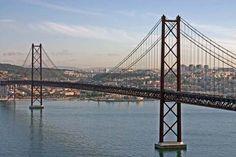 Lisbon Bridge, Portugal - Had an INTERESTING drive over it with Wayne...