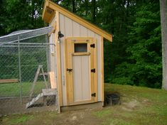 Use dog run's fencing for coop. Good idea!