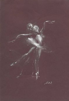 "Saatchi Art Artist Maia Ianuschevici; Drawing, ""Ballet couple Nr 5 / LIMITED EDITION 1 OF 10"" #art"
