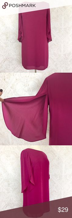 Gorgeous orchid sheath w/ tulip sleeves Worn once; in excellent condition with no flaws. More detail to follow. ALYX Dress Dresses