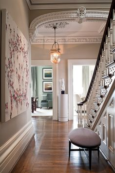 Traditional Entry and Hall in CA by Powell & Bonnell