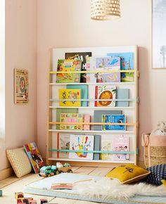 Kids Table And Chairs, Kid Table, Kids Room Bookshelves, Bookcase, Book Display Stand, Standing Shelves, Kids Bedroom, Kids Rooms, Nursery Room