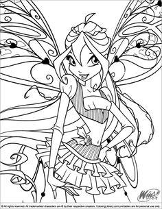 coloring page WinX Club WinX Club Pinteres