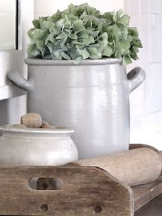 New or Antique-- Crockery is always a very good choice of casual, country decor