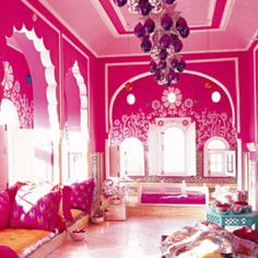 ... love PINK on Pinterest   Pink chandelier, Pink and Hello kitty house