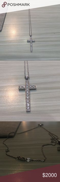 Stainless steel mens 15 tdw black diamond cross necklace stainless steel mens 15 tdw black diamond cross necklace overstock shopping the best deals on mens necklaces jewelry pinterest diamond mozeypictures Choice Image