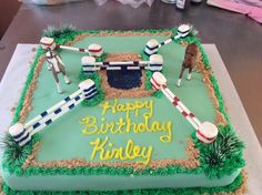 Horse Jumping Themed cake