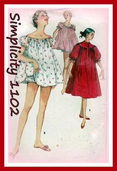 Vintage 1950s Sewing Pattern Butterick 1102 by MJMsvintagepatterns