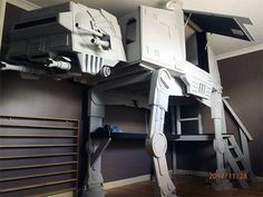 Mystery AT-AT Bunkbed. So doing this for my kid