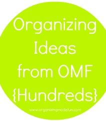 Go here to see hundreds of Organizing Ideas!