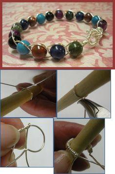 Braided Wire and Bead Bangle Tutorial