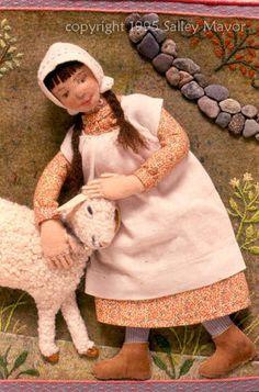 Mary and Lamb by Sally May Mavor of Wee Fold Studio