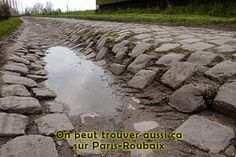 The cobbles of Paris-Roubaix.