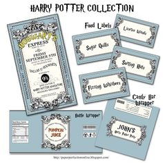 Paper Perfection: Harry Potter Party Printables