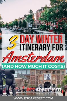 Are you planning an awesome winter trip to Amsterdam and want to get an idea about how much 3 days in Amsterdam will cost? Check out my 3 day Amsterdam Itinerary to find out the top things to do in Amsterdam and how much to budget for it. 3 Days In Amsterdam, Amsterdam Winter, Amsterdam City, Amsterdam Travel, Amsterdam Things To Do In, Amsterdam Netherlands, Amsterdam Christmas, Travel Netherlands, Europe Travel Guide
