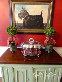 Ash Tree Cottage ~ Christmas in the dining room. Southern Christmas, Merry Christmas To All, Christmas Holidays, English Christmas, Cottage Christmas, Christmas Trees, Welsh Terrier, Scottish Terriers, Cairn Terriers