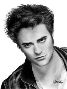 Robert Pattinson as Edward Cullen by LivieSukma on DeviantArt Pencil Art Drawings, Art Drawings Sketches, Cool Drawings, Drawing Art, Horse Drawings, Pencil Portrait, Portrait Art, Twilight Edward, Twilight Saga