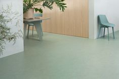 Natural linoleum flooring - Commercial Interior Design - Marmoleum – natural linoleum flooring by Forbo Cladding Materials, Wood Cladding, Commercial Interior Design, Commercial Interiors, Linoleum Flooring Rolls, Linoleum Naturel, Bathroom Vinyl, Natural Flooring, Commercial Flooring
