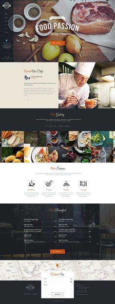 https://www.behance.net/gallery/19410677/The-Gourmet-Food-WP-Skin-Theme #web #design #webdesign