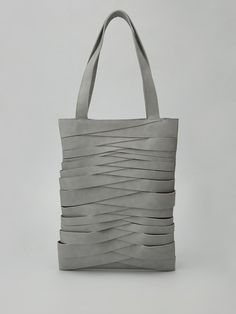Visions of the Future: leather tote by agneskovacs